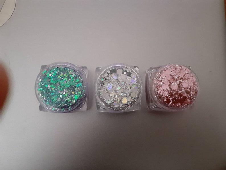 3pk Sequins Diamonds Shimmer Gel Body Glitter