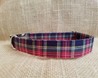 Holiday Plaid Buckle Collar
