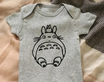 2a7d5624d5c6 Totoro and Friend Baby Onesie