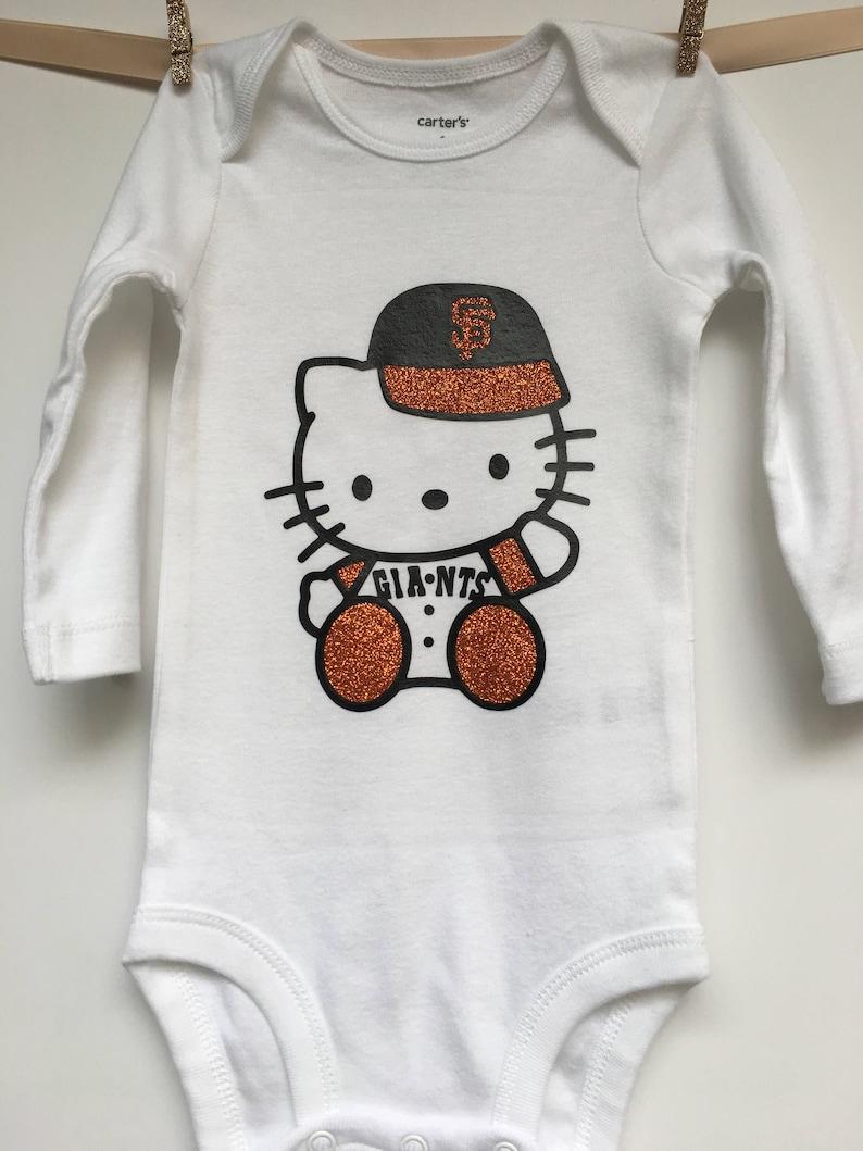 2610e6a8b Hello Kitty San Francisco Giants BABY Onesie | Etsy