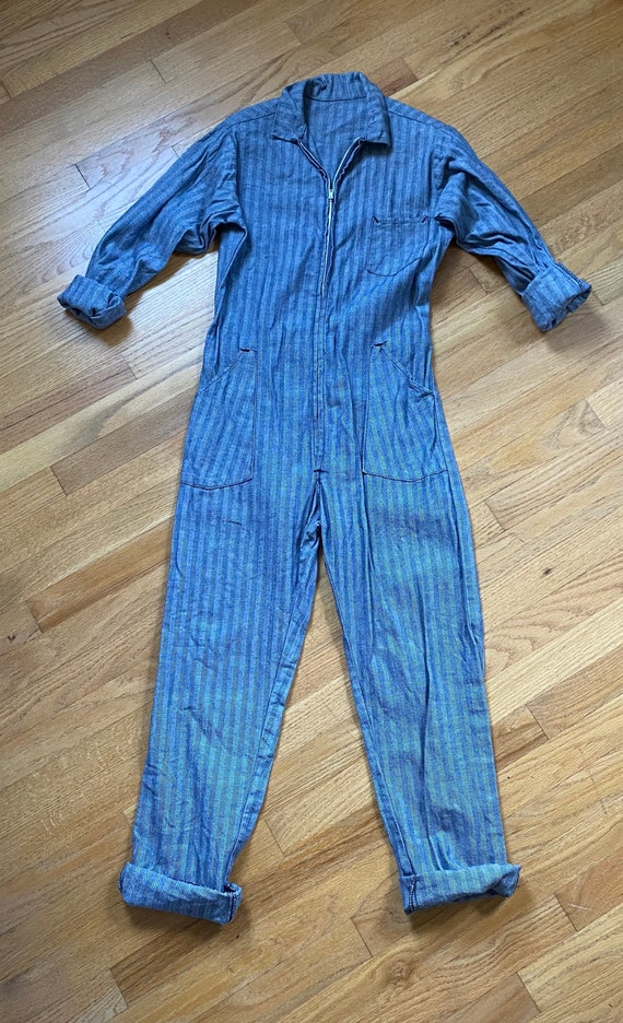 RESERVED Vintage Denim Coverall Fashion Workwear J