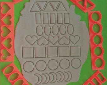 Emoji smiley smiling kisses LOL sunglasses love cookie cutter fondant baking tool 9 pack multi cutter