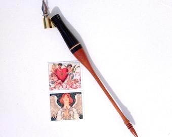 Oblique Calligraphy Pen in Exotic Woods