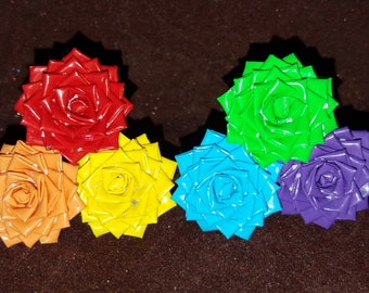 Custom Mini Duct Tape Flowers (6)