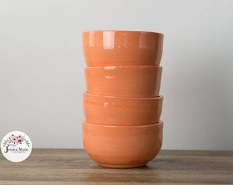 Bright Morning Orange Cereal Bowls