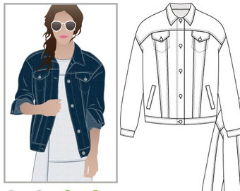 Denim Jacket Pattern Etsy