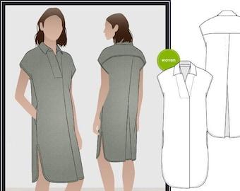 Style Arc Sewing Pattern - Autumn Dress - Sizes 16, 18, 20 - Women's Slip On Dress - PDF Sewing Pattern