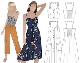 Style Arc Sewing Pattern - Ariana Woven Dress - Sizes 10, 12, 14 - Women's PDF Sewing Pattern