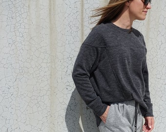 Carlsson Sweater - Sizes 22, 24, 26 - Sweater Top - Women's PDF Sewing Pattern by Style Arc