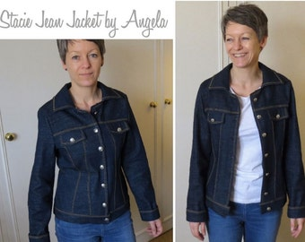 Stacie Jean Jacket // Sizes 12, 14 & 16 // Women's Jean Jacket PDF sewing pattern by Style Arc // DIY clothing // Sewing Projects