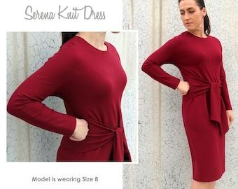 Serena Knit Dress - Sizes 22, 24, 26 - Women's knit dress PDF Sewing Pattern by Style Arc - Sewing Project - Digital Pattern