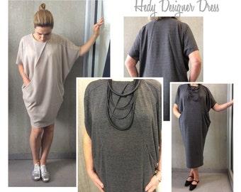 c99f7747a76 PRINTSHOP PATTERN (not tiled) - Hedy Designer Dress - Sizes 16