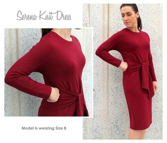 Serena Knit Dress Sizes 16 18 20 Women\'s knit dress | Etsy