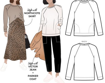 Preston Knit Sweat 10, 12, 14 -  PDF pattern for printing at home by Style Arc - Instant Download - No paper pattern will be posted to you