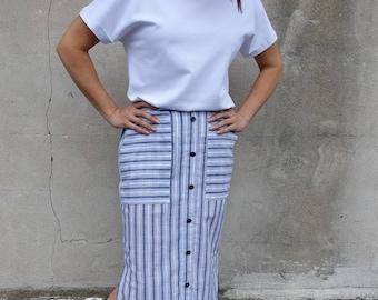 Style Arc Sewing Pattern - Indigo Maxi Skirt - Sizes 26, 28, 30 - Women's Pull On Skirt- PDF Sewing Pattern