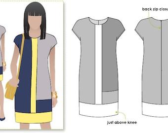 Charlotte Dress - Sizes 10, 12 and 14 - Women's dress PDF Sewing Pattern by Style Arc - Sewing Project - Digital Pattern