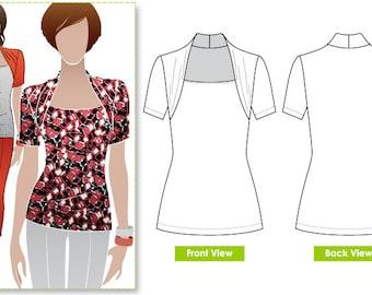 Belinda Jersey Top - Sizes 10, 12, 14 - Women's Top PDF Sewing Pattern by Style Arc - Sewing Project - Digital Pattern