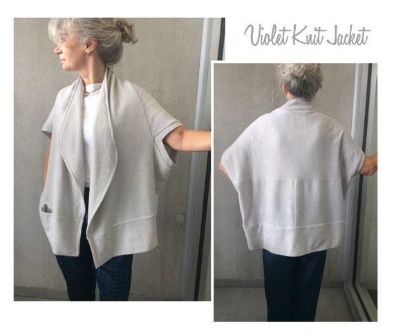 Schnittmuster Violet Knit Jacket Größen 4 6 & 8 Damen | Etsy