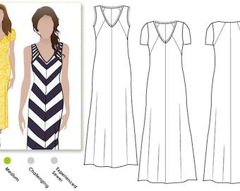 Maxi Dress PDF Sewing Pattern - Jacinta Knit Dress - Sizes 8, 10, 12 - Women's  Sewing Pattern by Style Arc