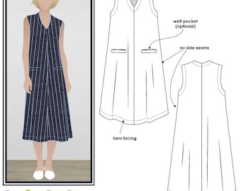 Vivienne Designer Frock // Sizes 10, 12 & 14  // A versatile Dress Pattern for Women by Style Arc // Sewing Project // DIY Clothes