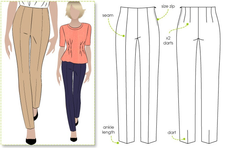 Claudia Stretch Woven Pant  Sizes 10 12 14  PDF image 0