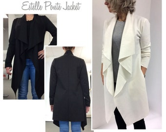 Sewing Pattern - Estelle Ponte Jacket - Sizes 16, 18 & 20 - Women's Jacket PDF sewing pattern by Style Arc