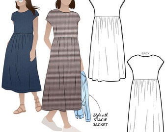 Montana Midi Dress - Sizes 10, 12, 14  - PDF patterns for printing at home by Style Arc  - No paper patterns will be posted