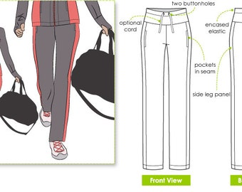 Sunday Walking Pant - Sizes 10, 12, 14 - Women's PDF Sewing Pattern - Downloadable PDF by Style Arc for Printing at Home