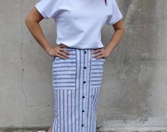 Style Arc Sewing Pattern - Indigo Maxi Skirt - Sizes 4, 6, 8 - Women's Pull On Skirt- PDF Sewing Pattern