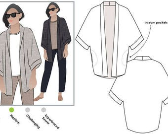 Besharl Jacket // Sizes 10, 12 & 14 // Style Arc PDF Sewing Pattern for a Women's Jacket // Instant Download
