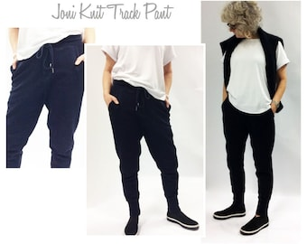 Joni Knit Track Pant // Sizes 16, 18 & 20 // PDF Women's Sewing Pattern for Instant Download