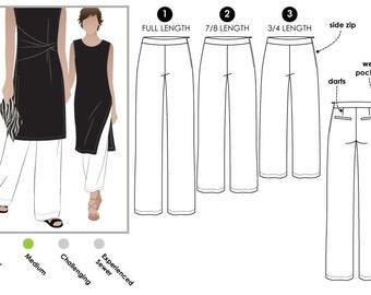 Natasha Woven Pant // Sizes 6, 8 & 10 // PDF Women's Sewing Pattern for Printing at Home