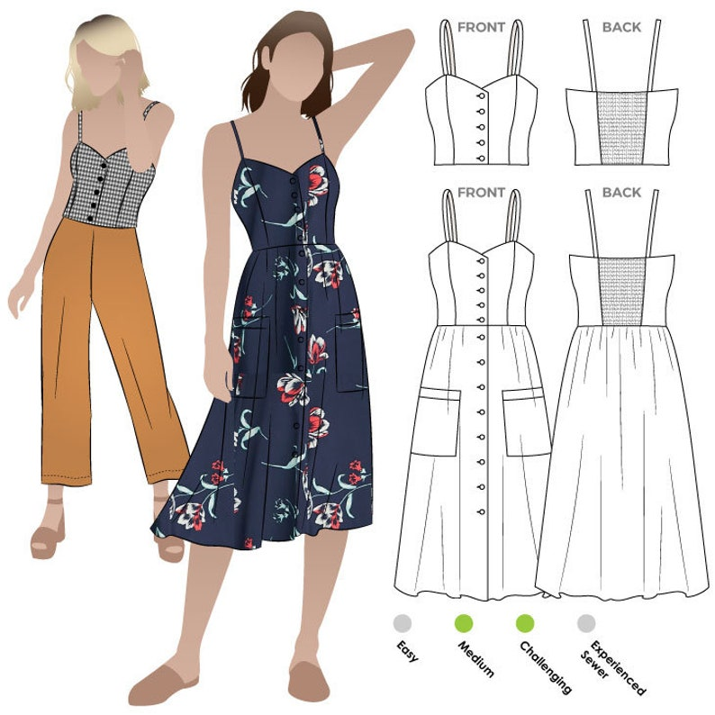 Style Arc Sewing Pattern  Ariana Woven Dress  Sizes 10 12 image 0