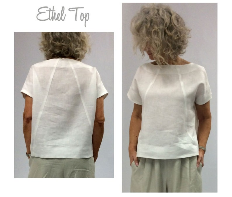 Ethel Designer Top  Sizes 10 12 14  Women's boxy image 0