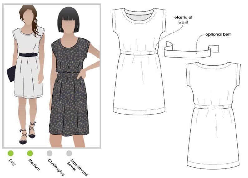 PRINTSHOP PATTERN not tiled  Olivia Dress  Sizes 20 22 image 0