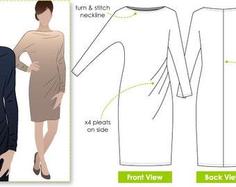 Danni Dolman - Sizes 10, 12, 14 - Women's Dolman Sleeved Dress PDF Sewing Pattern by Style Arc - Sewing Project - Digital Pattern