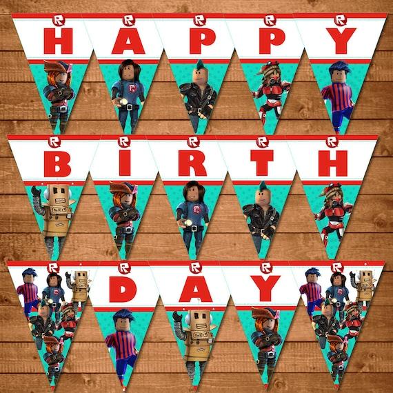 Roblox Birthday Banner Happy