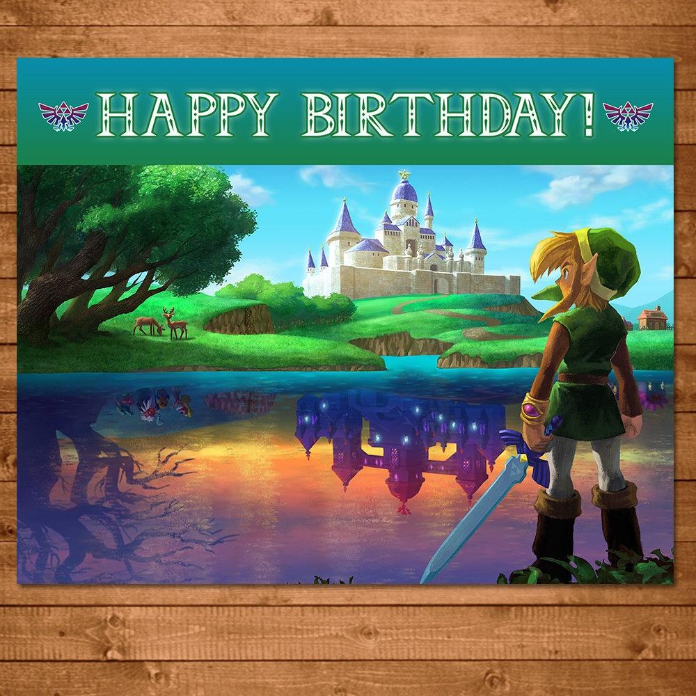 Legend Of Zelda Happy Birthday Sign Link Zelda Birthday