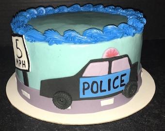 Amazing Police Car Cake Etsy Funny Birthday Cards Online Hendilapandamsfinfo