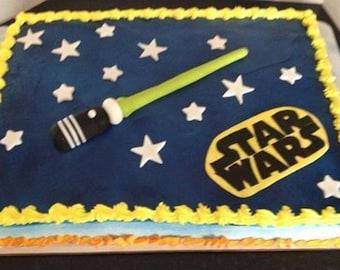Sugarpaste Star Wars Cake Topper