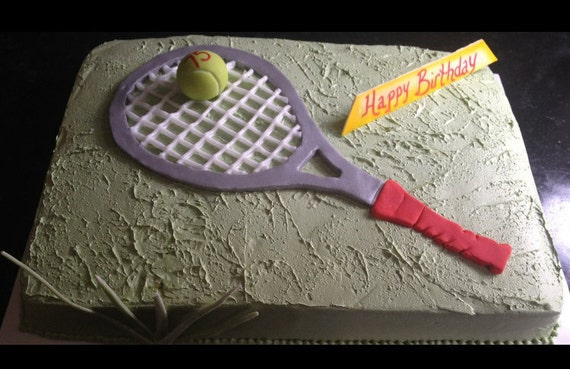 Fondant Sugar Tennis Racquet And Tennis Ball Etsy