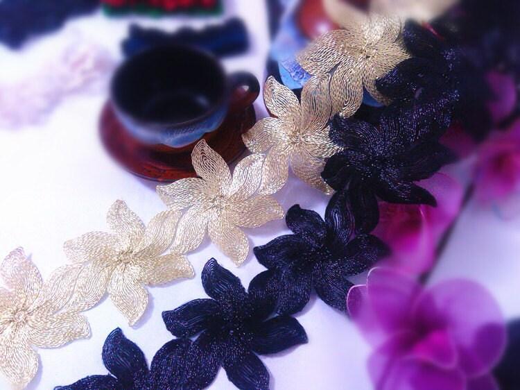 Dentelle or bricolage / noir fournisseur bricolage or décoration de cheveux 0c44c4