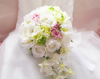 Bridal Bouquet with waterfall flowers