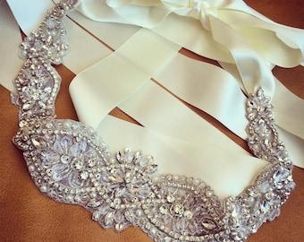 Bridal Rhinestone Sash Wedding Crystal Belt
