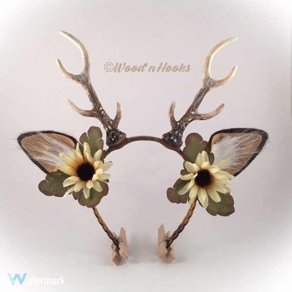 Deer Antler Headband   Christmas   Flower Crown   Horns with  a0d0a85208d