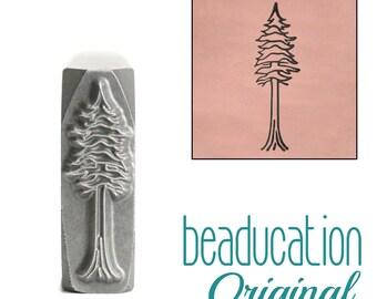 Tree Metal Design Stamp / Redwood Tree Metal Stamp  16.5mm - Metal Stamping / Punch Tools for Metal Stamped DIY Jewelry Making Tools (DS687)