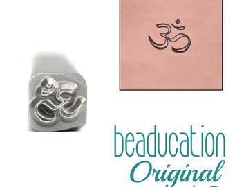OM Metal Design Stamp 6mm  tol0487