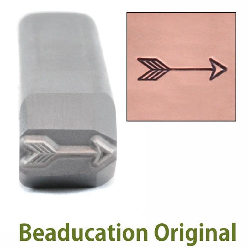 Arrow Metal Stamp Classic Medium 8.75mm  Beaducation Metal image 0