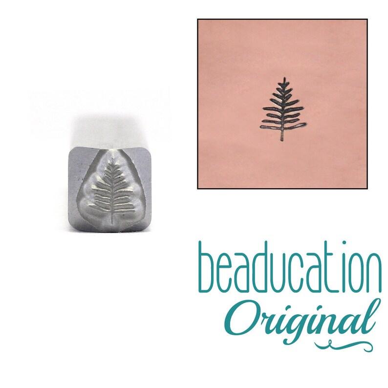 Evergreen Tree Metal Stamp / Christmas Tree 5mm  Beaducation image 0