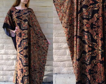 Vintage 1970's African/Bohemian Style Throw Dress